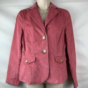 Ann Taylor Pink Corduroy 2-button blazer